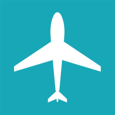 Bianco aereo icona web. icona di un aereo, bianco icona di forma piatta aerei. icona di un aereo, forma, etichetta, simbolo. vettore elemento grafico. Elemento di disegno vettoriale per il logo, web e stampa. Vettore aereo icona