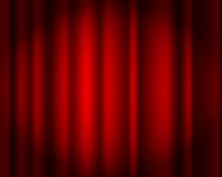 Curtain red vector isolated. Drapery. Theater scene, opera, concert or cinema. Curtain stage. Red abstract background for poster, presentation, cover.