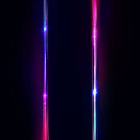 Neon vertical lines, frame. Neon lights sign. Vector abstract background, signboard, streak. Geometric glow outline shape or laser glowing parallel lines. Abstract background with space for your text.