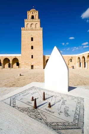 sonnenuhr: Sonnenuhr der Gro�en Moschee in Kairouan Lizenzfreie Bilder