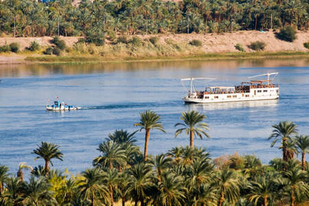 Boat on Nile River Editorial