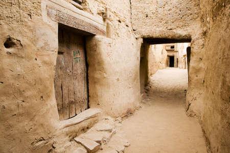The ancient Ruins of El-Qasr in Dachla, Egypt