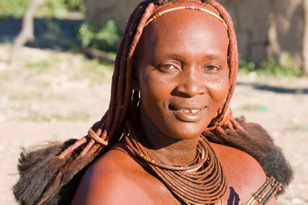 Himba Woman Portrait Imagens