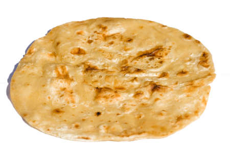 Chapati isolated on white background photo