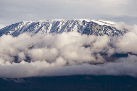 Mount Kilimanjaro  Highest mountain in AfricaKibo Summit of Kilimanjaro, Uhuru peak, worlds highest free standing-mountain  Stock Photo