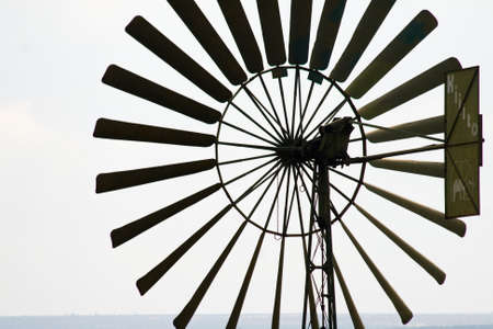 Wind wheel in Kenya, Africa