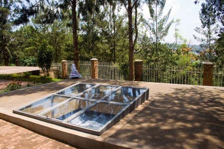 genocide: Graves of Kigali Genocide Memorial Centre, Rwanda Stock Photo
