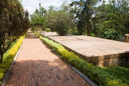 Graves of Kigali Genocide Memorial Centre, Rwanda Stock Photo