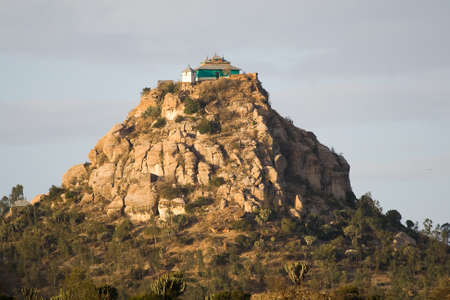 ethiopian: Monastery on a hill in Ethiopian Highlands.