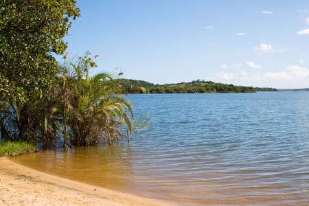 lake beach: Beach of Lake Nhambavale in Mozambique, East Africa.