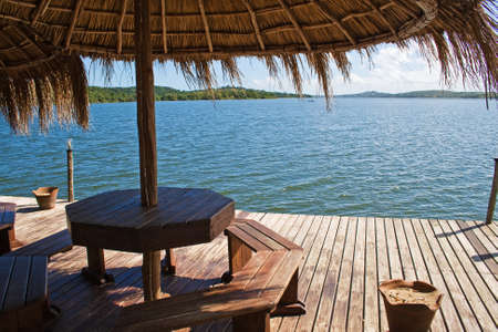 romantic beach: View at Lake Nhambavale in Mozambique, East Africa.