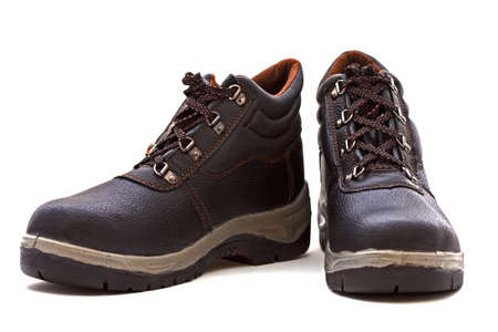 safety equipment: work shoes over white background