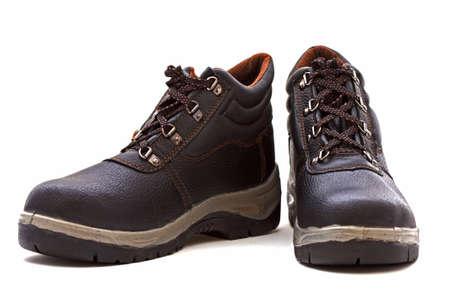 calzado de seguridad: zapatos de trabajo más de fondo blanco