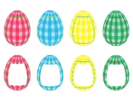 Set of applique Easter eggs, happy easter Stock Vector - 12429768