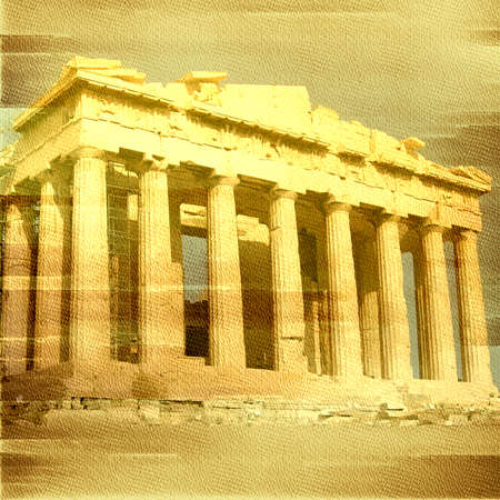 Old Paper Textures. Grunge Background. Vintage Grunge Parchment Brown. Vintage Image of Greek Columns. photo