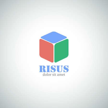 Abstract Business Logo. Cube Vector Icon.  Vector