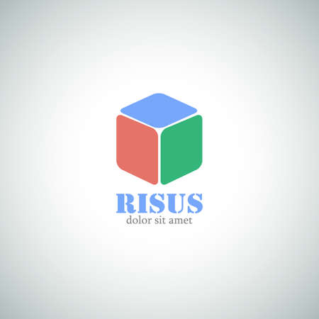 Abstract Business Logo. Cube Vector Icon.
