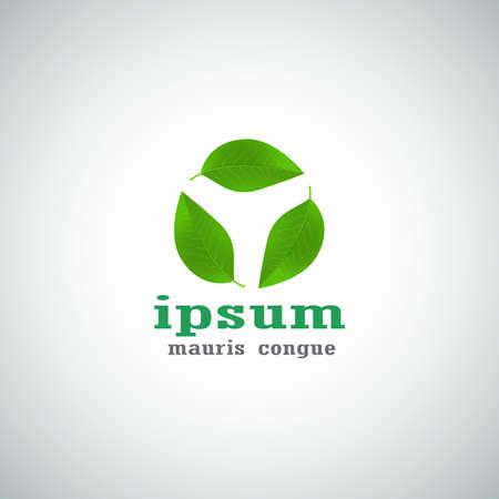 Ecological Vector Icon. Green Concept Logo. Abstract Template Illustration. Vector