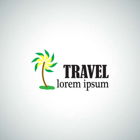 Travel Vector Logo. Abstract Tourism Design Template. Business Icon. Vector