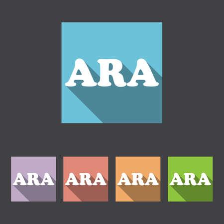 translation: Arabic Language Sign Icon. Translation Vector Symbol. Illustration