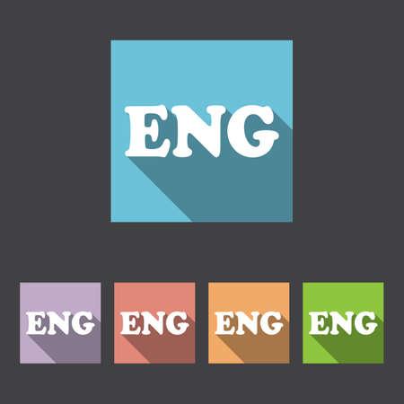 translation: English Language Sign Icon. Translation Vector Symbol.