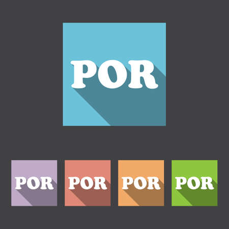 translation: Portuguese Language Sign Icon. Translation Vector Symbol. Illustration