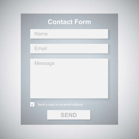 The Simple Gray Contact Form  Contact Us Form  Web Site Design