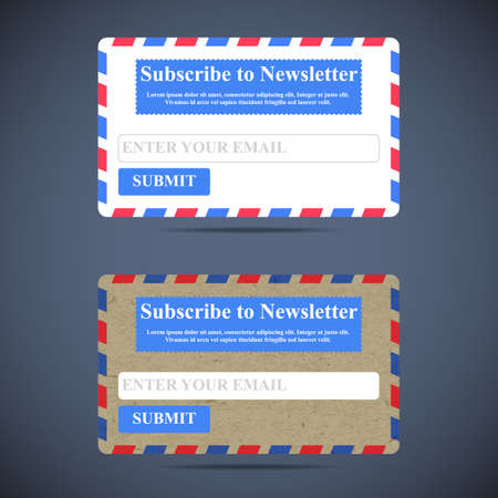 online form: The Newsletter Subscription Form. Web Site Design.