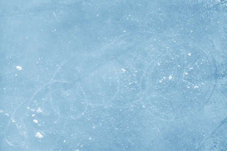 ice surface: Surface of an Ice Rink Replete with Skate Marks Stock Photo
