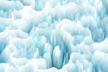 Illustration of Iceberg Surface Stock Photo