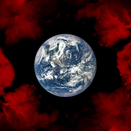 climate: Planet Earth in space. Danger of global warming, climate change.