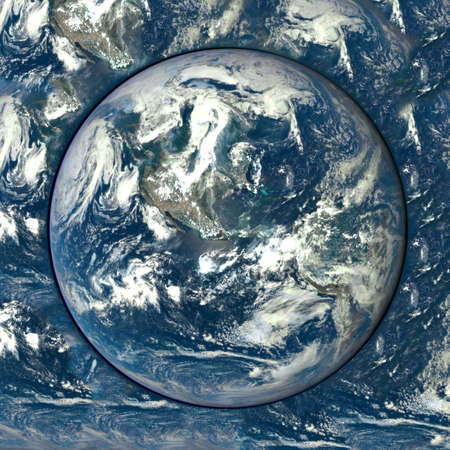 earth space: Planet Earth from space.