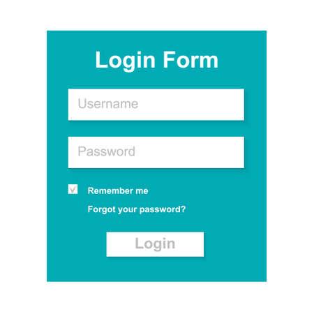 web site design: The Simple Gray Login Form. Web Site Design. Illustration