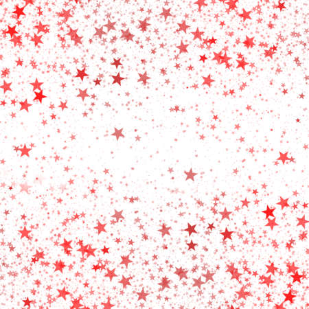 Red Stars on a White Background for Greeting Card
