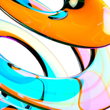 Glass Background. Abstract Shape Wallpaper.