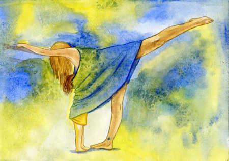 Okupacja przez jogi mÅ'odej dziewczyny nie wyklucza pielÄ™gniarka córkÄ™ Zdjęcie Seryjne