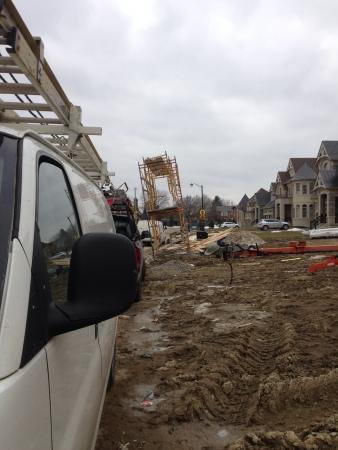 Housing area under construction