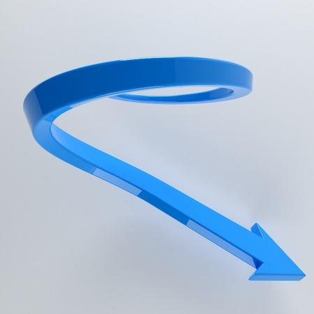 web desig: Illustration of blue arrow