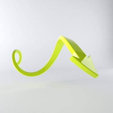 fleche verte: Illustration de la fl�che verte