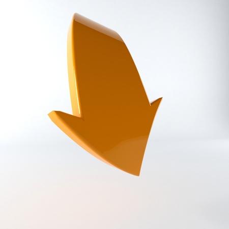 web desig: Illustration of orange arrow