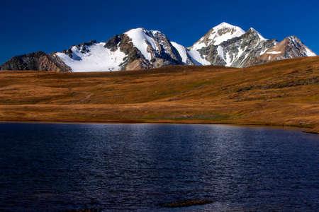 Altai Tavan Bogd National park of Mongolia Stock Photo