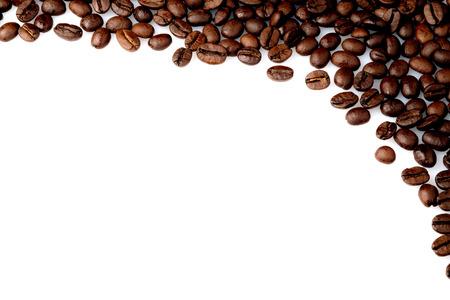 vida natural: café, frijol, café, fondo, esquina, aislado, decoración, cafetería, natural, textura, texto, marrón, aroma, arte, estilo, primer plano, blanco, bebida, vida, desayuno, aromáticos, detalles, viejo, negro, tostado, tradicional, retro, todavía, telón de fondo, vintage, fresco,