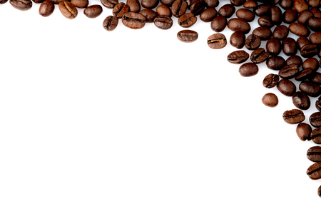 coffee, bean, espresso, background, corner, isolated, decoration, cafe, natural, texture, text, brown, aroma, art, style, closeup, white, drink, life, breakfast, aromatic, details, old, black, roasted, traditional, retro, still, backdrop, vintage, fresh,  Reklamní fotografie