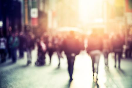 people walking in the street, blurry Reklamní fotografie