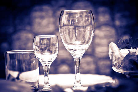 Table wine glasses for wine  photo