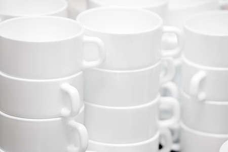Set of mugs for tea ceremony, tea drinking  photo