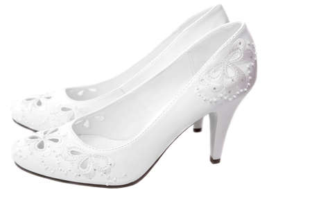 White shoes of the bride  photo