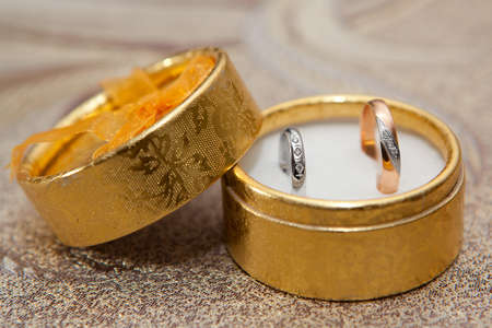 Wedding rings in a box  photo