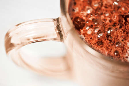 invigorate: Cup of fresh natural coffee  Stock Photo