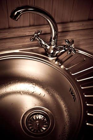 kitchen sink: The kitchen water crane